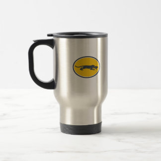 Black Panther Prowling Oval Retro Travel Mug