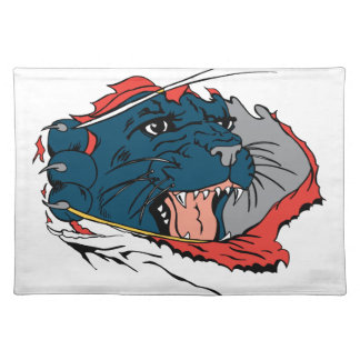 Black Panther Ripping Place Mat