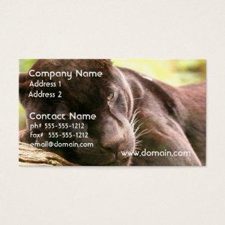 Black Panther Sleeping Business Card