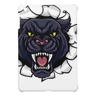 Black Panther Soccer Mascot Breaking Background iPad Mini Cases