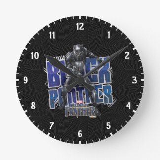 Black Panther | T'Challa - Black Panther Graphic Round Clock