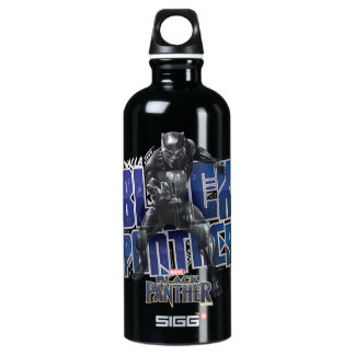 Black Panther   T'Challa - Black Panther Graphic Water Bottle