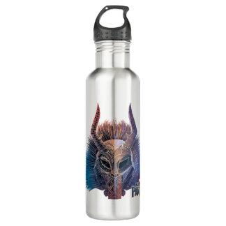 Black Panther   Tribal Mask Overlaid Art 710 Ml Water Bottle