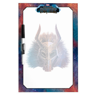 Black Panther | Tribal Mask Overlaid Art Dry Erase Board