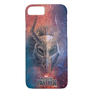 Black Panther | Tribal Mask Overlaid Art iPhone 8/7 Case