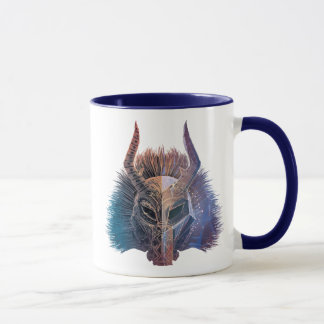 Black Panther | Tribal Mask Overlaid Art Mug