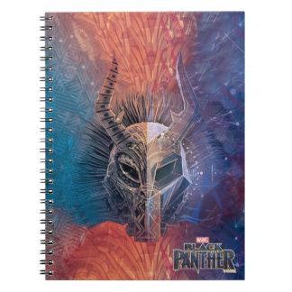 Black Panther | Tribal Mask Overlaid Art Notebook