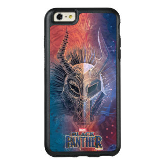 Black Panther | Tribal Mask Overlaid Art OtterBox iPhone 6/6s Plus Case