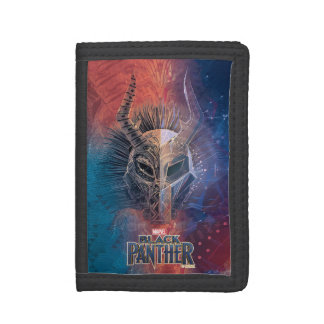 Black Panther | Tribal Mask Overlaid Art Trifold Wallet