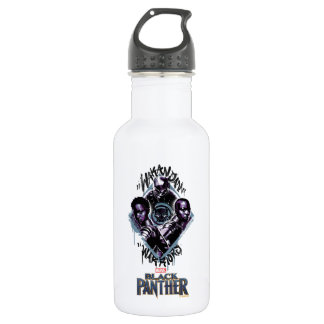 Black Panther | Wakandan Warriors Graffiti 532 Ml Water Bottle