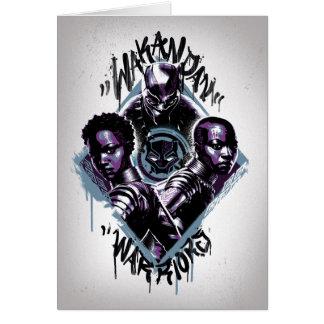 Black Panther   Wakandan Warriors Graffiti Card