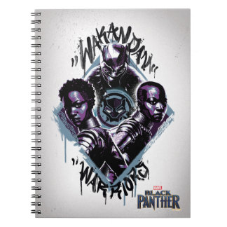 Black Panther | Wakandan Warriors Graffiti Notebook