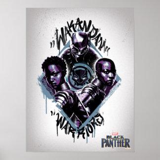 Black Panther | Wakandan Warriors Graffiti Poster