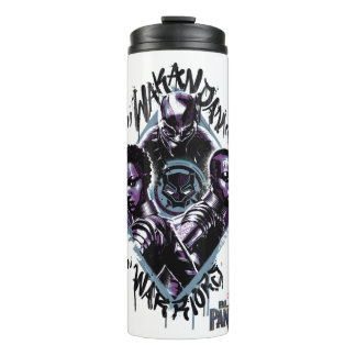 Black Panther | Wakandan Warriors Graffiti Thermal Tumbler