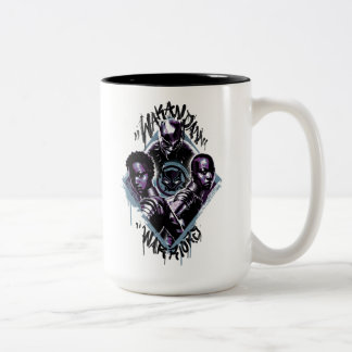 Black Panther | Wakandan Warriors Graffiti Two-Tone Coffee Mug