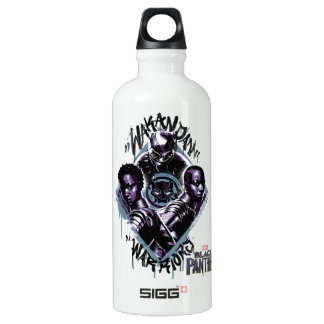 Black Panther | Wakandan Warriors Graffiti Water Bottle