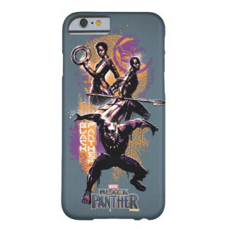 Black Panther | Wakandan Warriors Painted Graphic Barely There iPhone 6 Case