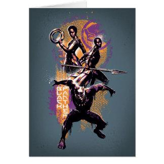 Black Panther   Wakandan Warriors Painted Graphic Card