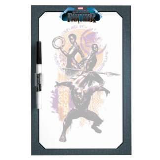 Black Panther | Wakandan Warriors Painted Graphic Dry Erase Board
