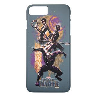 Black Panther | Wakandan Warriors Painted Graphic iPhone 8 Plus/7 Plus Case