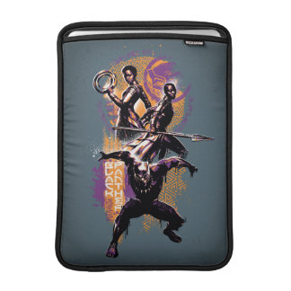 Black Panther   Wakandan Warriors Painted Graphic MacBook Sleeve