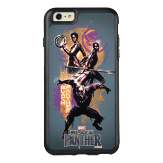 Black Panther | Wakandan Warriors Painted Graphic OtterBox iPhone 6/6s Plus Case