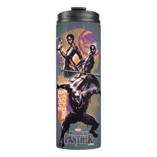Black Panther | Wakandan Warriors Painted Graphic Thermal Tumbler