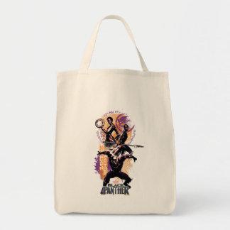Black Panther | Wakandan Warriors Painted Graphic Tote Bag