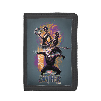 Black Panther | Wakandan Warriors Painted Graphic Trifold Wallet