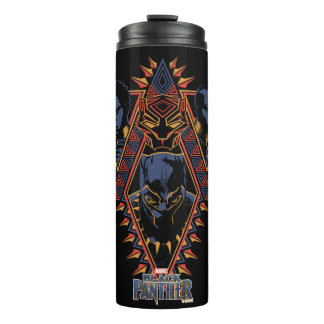 Black Panther | Wakandan Warriors Tribal Panel Thermal Tumbler