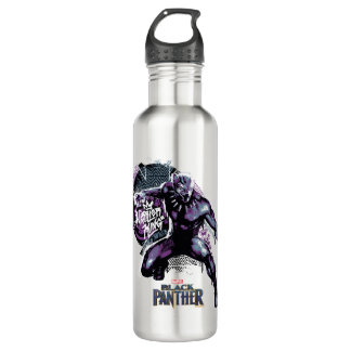 Black Panther | Warrior King Painted Graphic 710 Ml Water Bottle