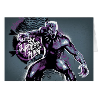 Black Panther   Warrior King Painted Graphic Card
