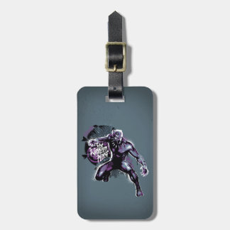 Black Panther | Warrior King Painted Graphic Luggage Tag