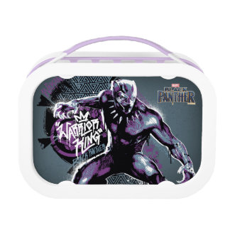 Black Panther | Warrior King Painted Graphic Lunch Box