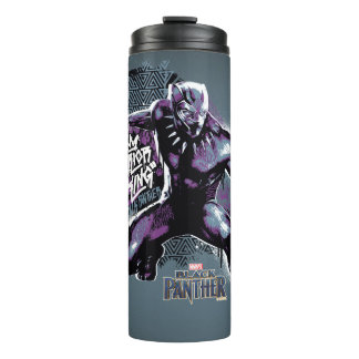 Black Panther | Warrior King Painted Graphic Thermal Tumbler