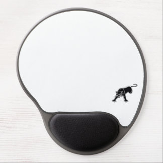 Black Panther / White Background Gel Mouse Pad