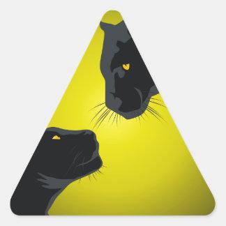 Black panthers triangle sticker