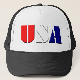 Black Patriotic USA Truckers Hat