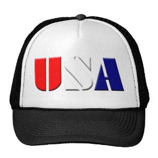 Black Patriotic USA Truckers Hat