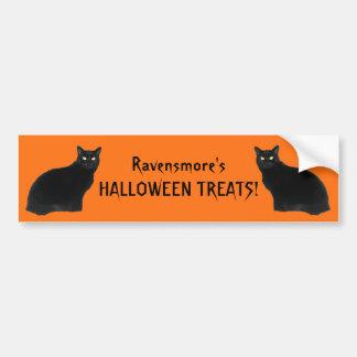 Black Patrol Cats Halloween Party Decoration Bumpe Bumper Sticker