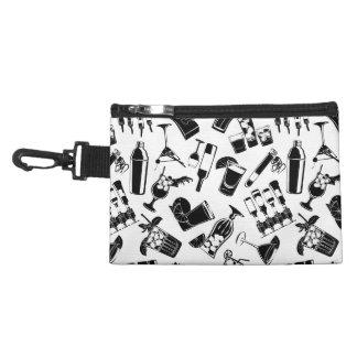 Black Pattern Cocktail Bar Accessory Bag
