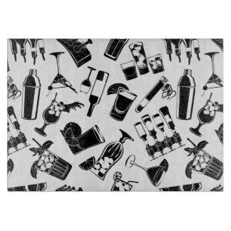Black Pattern Cocktail Bar Cutting Board