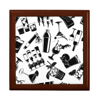 Black Pattern Cocktail Bar Gift Box
