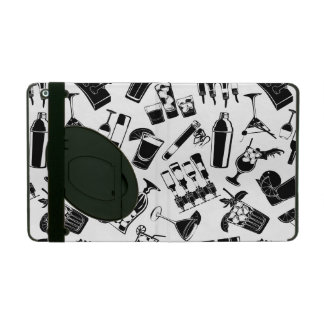 Black Pattern Cocktail Bar iPad Cover