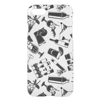 Black Pattern Cocktail Bar iPhone 8/7 Case