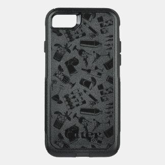 Black Pattern Cocktail Bar OtterBox Commuter iPhone 8/7 Case