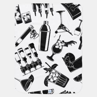 Black Pattern Cocktail Bar Pramblankets