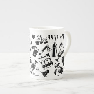Black Pattern Cocktail Bar Tea Cup