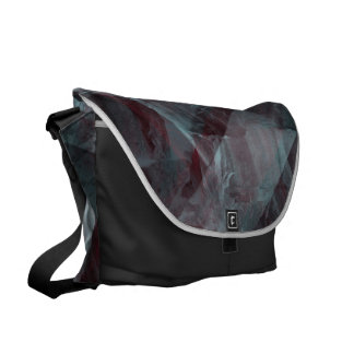 black pattern commuter bags