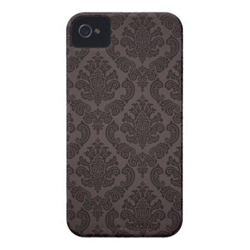 Black Pattern Damask Blackberry Bold Case